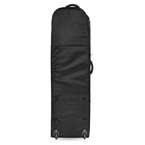 Golf Travel Bag PEATAO Padded Oxford Golf Club Travel Cover ,Black with Two Wheel (US STOCK) by PEATAO (Image #3)