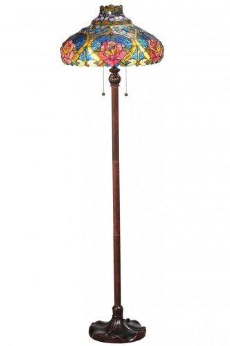 "Meyda Tiffany 138109 Dragonfly Rose Floor Lamp, 60"" Height"
