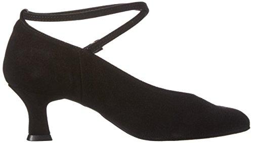 Diamant Damen Tanzschuhe 075-068-001, Zapatos de Tacón para Mujer Negro (Black/black Bk2)