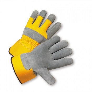 West Chester 500Y Yellow XL Split Cowhide Leather Full Fingered Work & General Purpose Gloves - Wing Thumb - Uncoated - 11 in Length - 500Y/XL [PRICE is per PAIR]