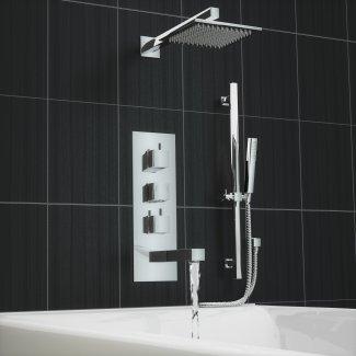 Tmv2 Thermostat 3 Wege Wasserhahn Wand Badewanne Dusche Mixer