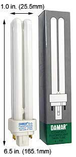 (Case of 20) Double Twin Tube Compact Fluorescent Lamps | F26DDTT/DE/827/G24Q-3 26 Watt Quad 4-Pin 2700K G24Q-3 Base