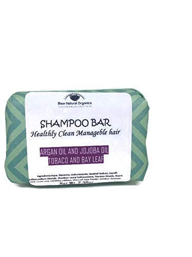 All Natural Eco-Friendly Solid Shampoo Bar for Normal-Dry or Frizzy Hair, Frizz Ease & All Hair Types with Argan Oil and Jojoba Oil Manly Fragrance 2.20oz Chemical Free.