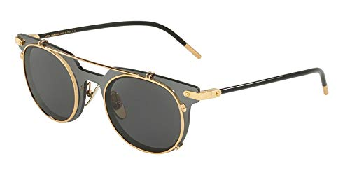 (Dolce & Gabbana Men's 0DG2196 Grey/Gold/Grey One Size)