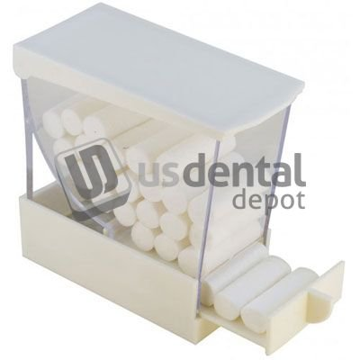 PLASDENT - Pull Style Cotton Roll Dispenser - #207CDR-W - Color: White 001-207CRD DENMED Wholesale