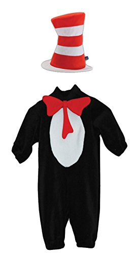 [UHC Dr. Seuss Cat In The Hat Toddler Kids Child Fancy Dress Halloween Costume, 2T-4T] (Dr Seuss Baby Halloween Costumes)