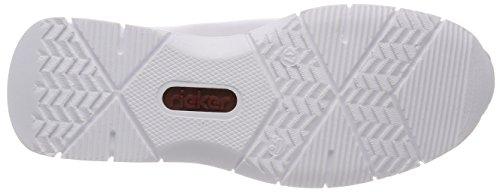 Rieker weiss Basses M5212 Sneakers Blanc Femme rXAEFrwxq
