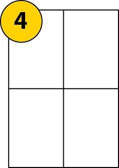 4 labels per page sheet x 100 a4 sheets label size 105 x 148mm