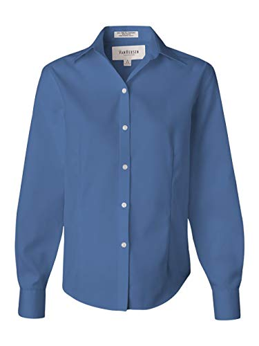 ng Sleeve Non Iron Pinpoint Oxford Shirt, French Blue, Large ()
