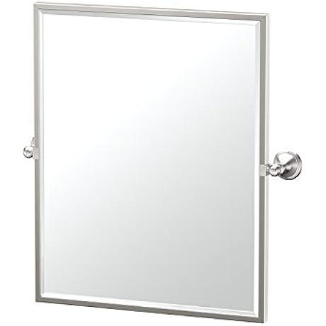 Gatco 4599FSM Laurel Ave Framed Small Rectangle Mirror Satin Nickel 25 H