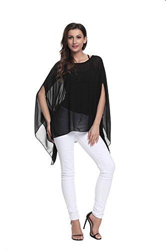 Couleurs Porter Femmes Chemise Les Plus OKSakady T 6 Boho dcontract en Shirt Tops 10001 pour Mousseline Size Style Style Plage Soie de lache xFqAnwRU