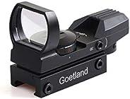 Goetland Gun Rifle Scope Red & Green Reflex Dot Sight with 4 Reti