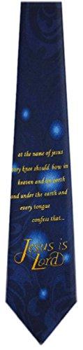 Necktie Mens Gold Christian Navy Novelty ffUHqxz