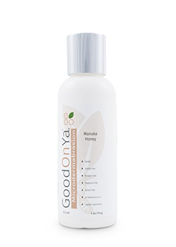 Facial Scrub Cleanser with Manuka Honey - Exfoliating Natural & Organic Ingredients, Paraben Free, Acne, Dry Skin, Eczema, Psoriasis Dermatitis, Oily Skin, Blackheads (4 oz) by GoodOnYa