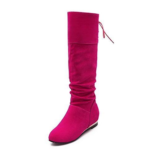 Rouge Imprison Rose W01xqpon6 Femme Motardes Bottes Balamasa 4SAZx