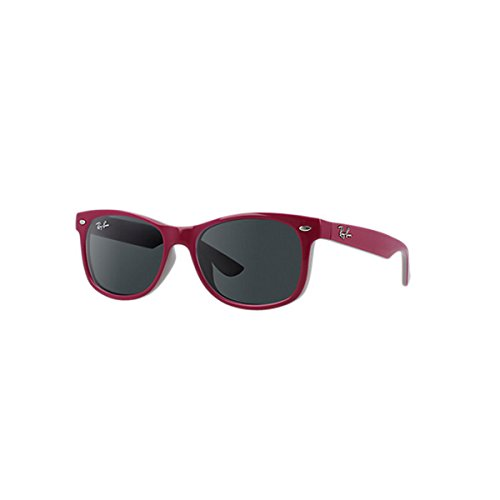 Ray-Ban Kids' New Wayfarer Junior Square Sunglasses, Top Red Fuxia on Gray 177/87, 47 mm
