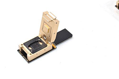 (ALLSOCKET FBGA169/153 Alloy Adapter, BGA153 BGA169 Package 153-169 Ball Nand Flash Mobile Memory Damage phone Chip-off Date Recovery Reader Retrieve Tool(eMMC153/169-SD-Alloy))