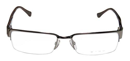 Etro Ve9634 Mens/Womens Designer Half-rim Spring Hinges Eyeglasses/Eyeglass Frame (54-17-135, Gunmetal / - Etro Eyewear