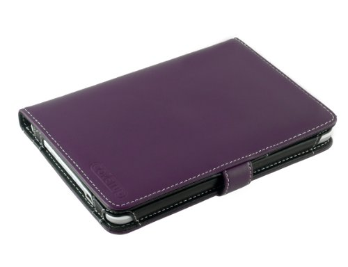 Cover-Up Kobo Wireless eReader Leather Cover Case (Book Style) - Purple at Electronic-Readers.com