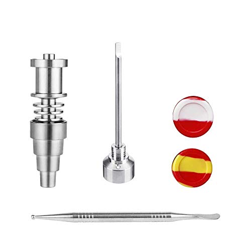 Wax Carving Tool, Titanium Cap Wax Tool, Silicone Jar Tool Fits for 16mm Heater Coil