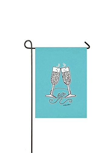 Evergreen Suede Wedding Cheer Garden Flag, 12.5 x 18 inches