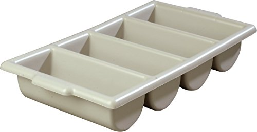 Carlisle 107123 Save-All Polyethylene Silverware Tray, 21-1/4 L x 11-1/2 W x 3-3/4 H, Gray (Case of 6) by Carlisle