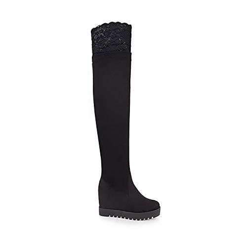 Black US5.5   EU36   UK3.5   CN35 Black US5.5   EU36   UK3.5   CN35 Women's shoes Suede Fall & Winter Comfort Boots Wedge Heel Black