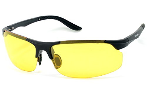 Yellow Lens Night Vision Goggles Sunglasses Driving Riding Sport Glasses UV400 - 3
