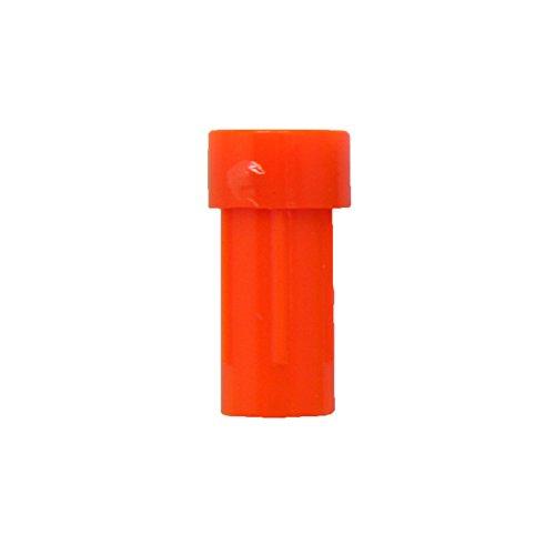 Crossbow Bolt Ends - SAS Crossbow Nock Flat End - Dozen 12/Pack - Made In USA (.2985, Neon Orange)