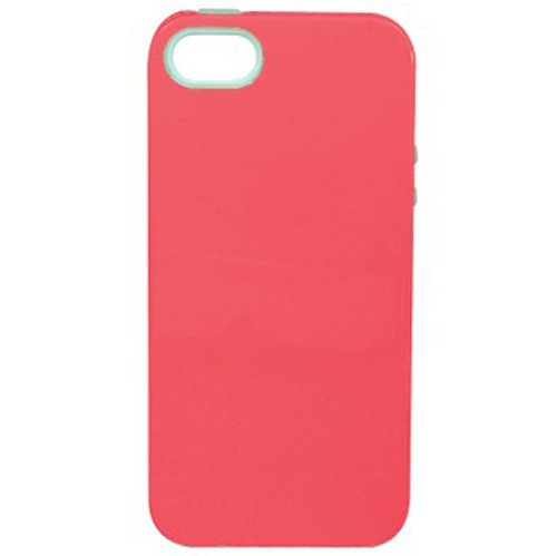 Sonix Inlay Hybrid Case for iPhone 5 & 5s - Retail Packaging - Capri (Coral/Mint) ()