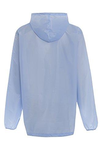 Giacca Fodera senza antipioggia azzurra cappotto unisex per cappuccio disegni impermeabile adulti con wqr6wf4