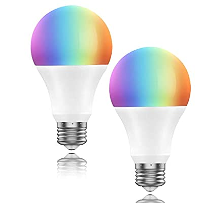 WiFi Smart Led Light Bulb,Smart Blub Dimmable, Compatible with Alexa and Google Home,by Smartphone iOS&Android ?2pack?