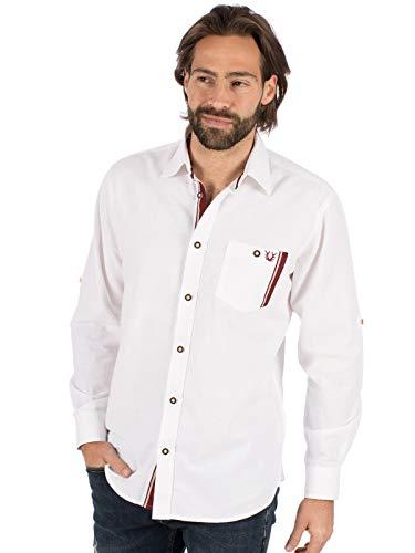 Krüger Dirndl German Traditional Shirt Long Sleeve Fritz White Bordeaux, ()