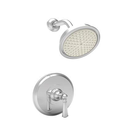 Newport Brass 3-2454BP/15 Sutton Single Handle Shower Valve Trim with Showerhead and Lever Handle, Polished Nickel