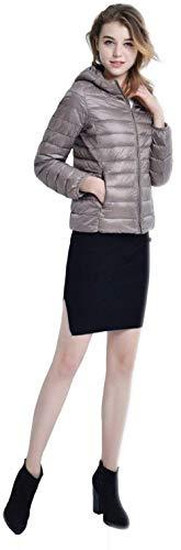 Monocromo Alta Qualit Manica Tasche Piumino Leggero Laterali Invernali Corto Mantello Abbigliamento Di Lunga Con Donna Cappotto Caldo Cappuccio Cerniera Con Targogo HYRBx