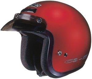 Hjc CS-5 CS5 CRUISERn Wine SIZE:LRG Open Face Motorcycle Helmet