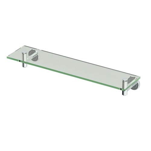 Gatco 4246 Latitude Glass Bathroom Shelf in Polished Chrome