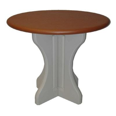 Leisure Accents Patio Table - Leisure Accents Round Patio Table, 30 Inches by 36 Inches High, Redwood/Beige