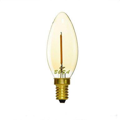 Lights Bulbs, E12 E14 E26 E27 2200K-3000K 50-100Lm 110V 220V 1W 1LED Dimmable Retro Imitation Tungsten Filament LED Candle Light