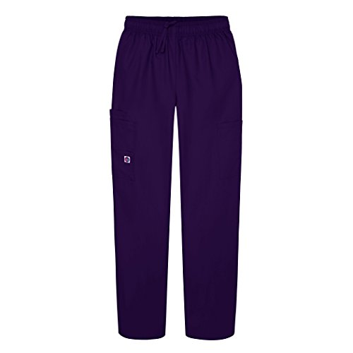 (Sivvan Women's Scrubs Drawstring Cargo Pants (Available in 12 Colors) - S8200 - Purple - M)