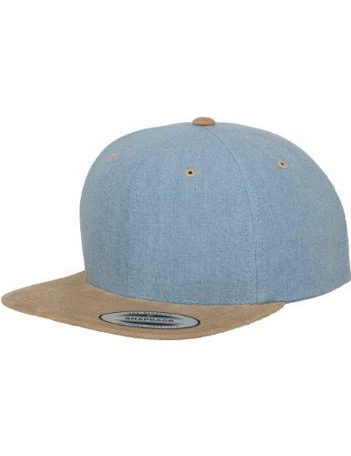 Flexfit azul suede Mütze color de Snapback Chambray DE Gorra size náutica beige talla One A4Axrn