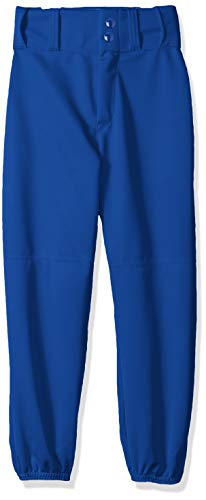 Alleson Ahtletic Boys Youth Elastic Bottom Baseball Pants, Royal, - Youth Belt Alleson Athletic