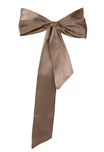 Meet Edge Satin Sash Belt for Bridal Wedding Brown
