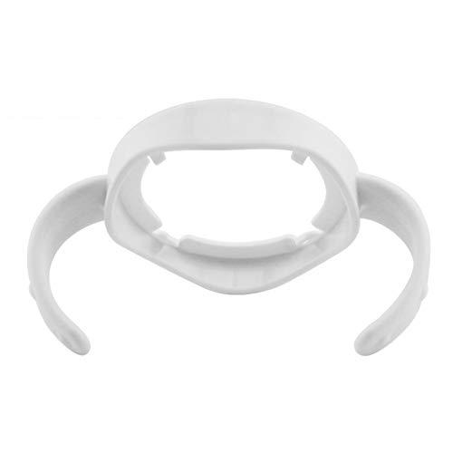 Pr/áctico calibre ancho Mango universal para empu/ñadura de biber/ón para la alimentaci/ón Accesorios para biberones Manija para biber/ón de PP Grip-Grey Blanco-1 tama/ño