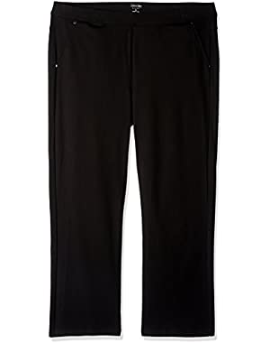 Calvin Klein Performance Women's Plus Size Ponte Bootleg Pant-30 inch Inseam