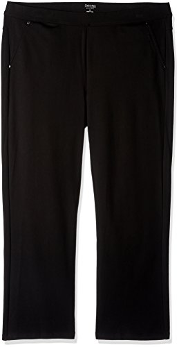 Calvin Klein Performance Women's Plus Size Ponte Bootleg Pant-30 Inseam, Black, 2X