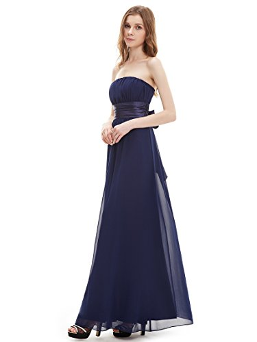 Ever Pretty Empire Waist Bowtie Strapless Evening Dress 09060