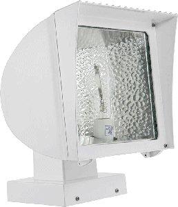RAB Lighting FXH50XQTW Metal Halide Flex Floodlight with Fixed Wall Mount, ED17 Type, Aluminum, 50W Power, 3400 Lumens, 277V, - Wall Flex Flood Mount
