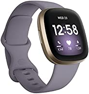Fitbit Versa 3 Health and Fitness Smartwatch, Amazon Exclusive Color, GPS, 24/7 Heart Rate, Alexa Built-in, 6+