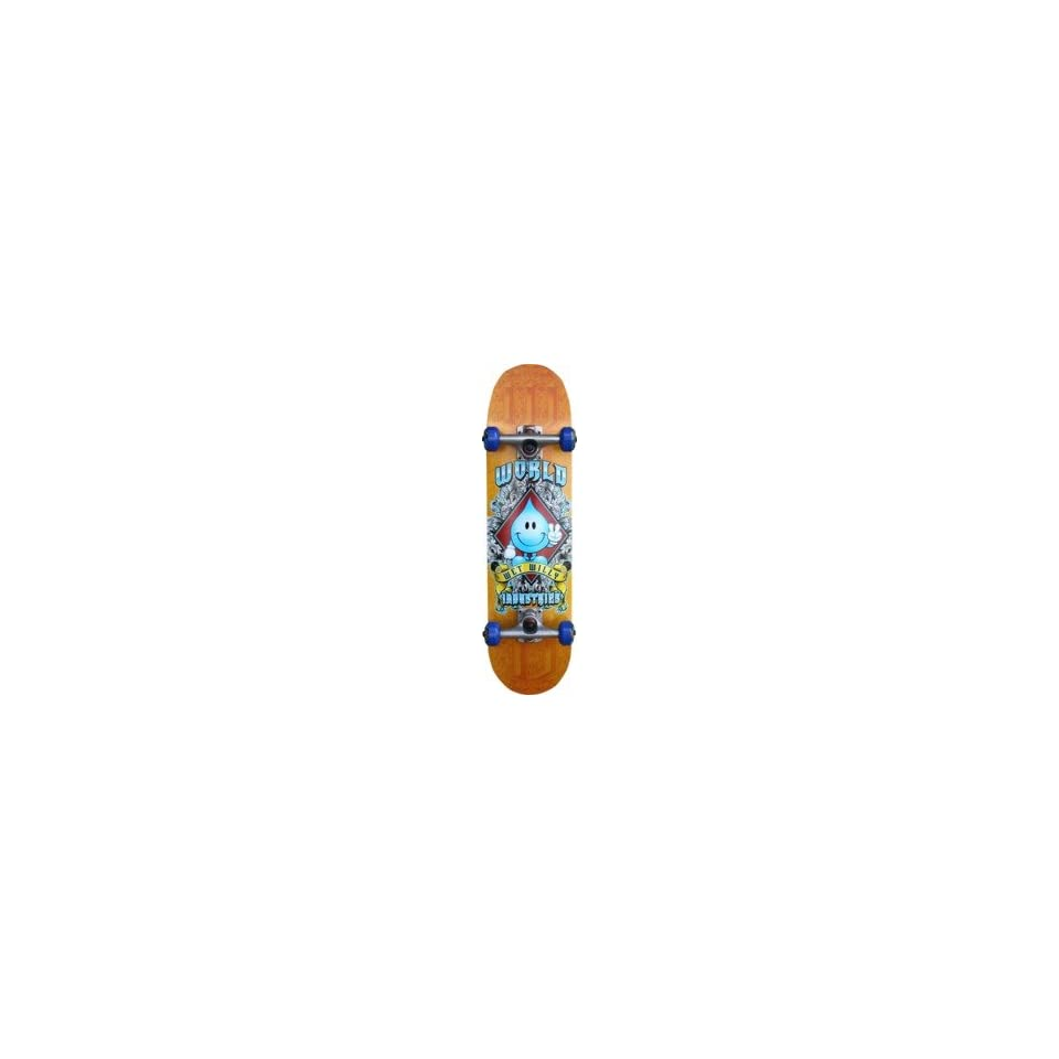 World Industries Wet Willy Crest Mid Complete Skateboard   7.3